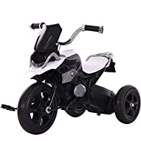 FJ-MC Kids Tricycle, Simulated Motorcycle Appearance, Children 3 Wheel Pedal Bike, for 2-7 Years Kids and Toddlers,White