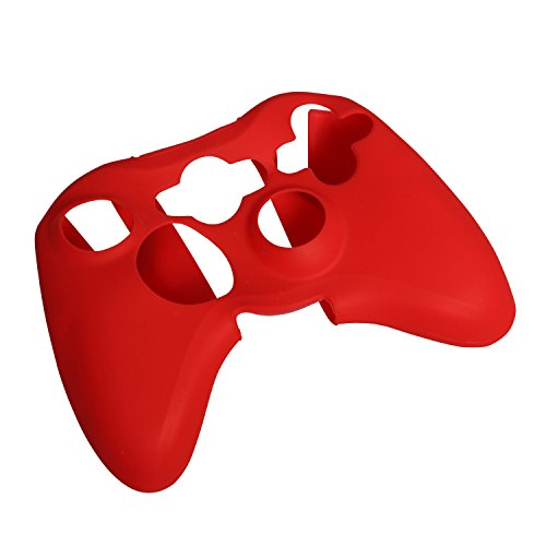 eJiasu Replacement Lumière Silicon Protector Case Cover Skin pour contrôleur xbox360 (Rouge)