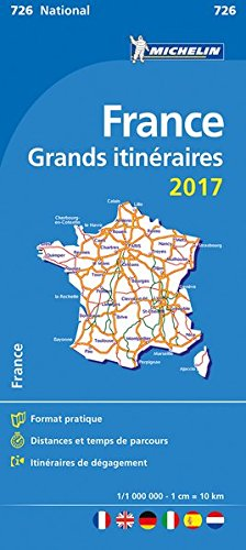 France. Route planning. Grands itinéraires 2017 1:1.000.000 (Carte nazionali)