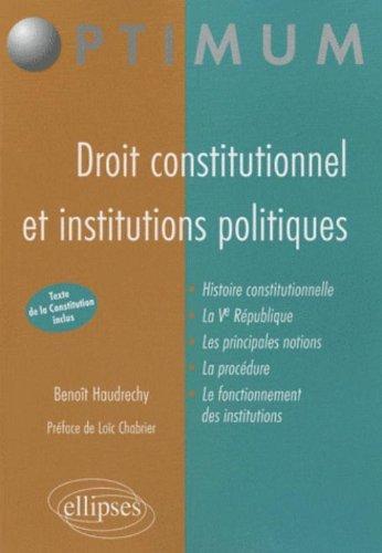 Droit Constitutionnel & Institutions Publiques