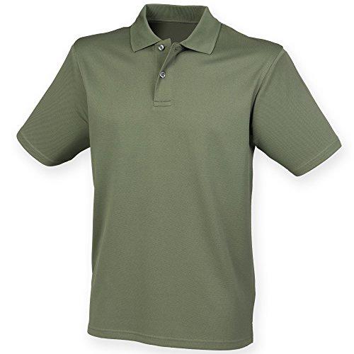 Henbury Herren Polo-Shirt Coolplus Pique Olive