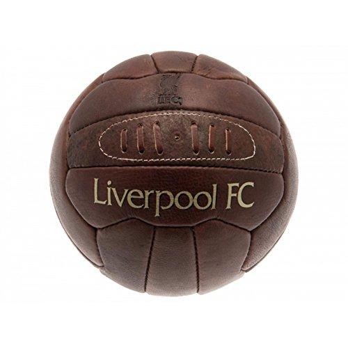 Liverpool FC offizieller Retro Heritage Lederfußball (Größe 5) (Braun)
