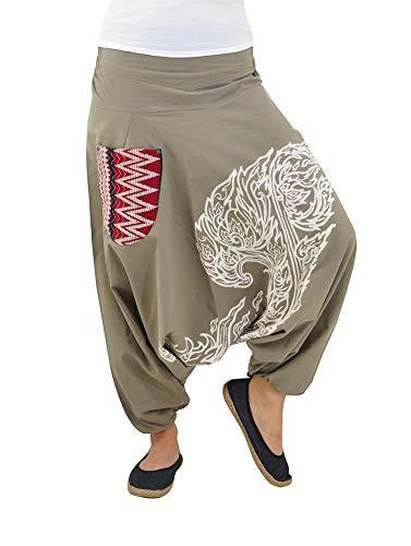 30c72e9f5bcb virblatt Pantaloni alla Turca Uomo Harem Yoga Pantaloni Etnici Cavallo  Basso - kanok tklxl