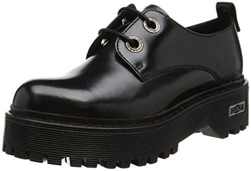 Low Black Noir Cult femme à Slash chaussures 1702 lacets FA65wqU8