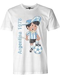 More T Vicar Argentina 78 Vendimia - Copa Mundial de Fútbol de la Camiseta - Hombre