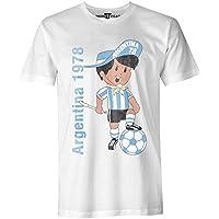 Argentina 78 Vintage T Shirt - Uomo di calcio Coppa del Mondo Maglietta