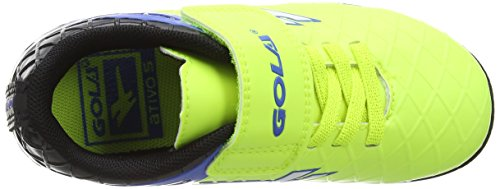 Gola Talos Vx Velcro, Chaussures de Football Mixte Enfant Jaune (Volt/black/pro Blue)