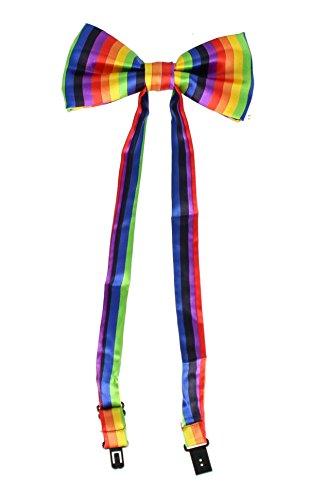 en Gay Pride/Karneval Satin Fliege-Einheitsgröße (Gay Pride Outfits)