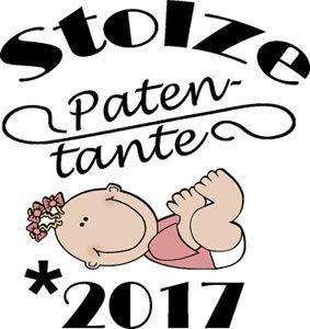 Mister Merchandise Ladies Damen Frauen T-Shirt Patentante - 2017 Tee Mädchen Bedruckt Weiß