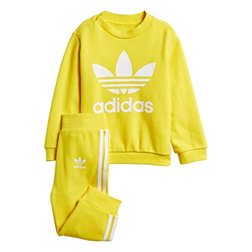 adidas adidas Kinder Trefoil Trainingsanzug, Yellow/White, 74