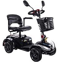 HOPELJ Silla De Ruedas Eléctrica Ciclomotor,Folding Portable Mobility Scooter - Movilidad Reducida Minusválido.