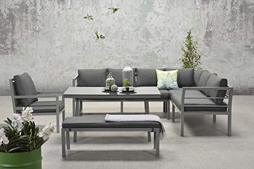 Garden Impressions Hohe Dinning Aluminium Lounge Blakes XL Anthrazit Rechts, inklusive zusätzlichem...