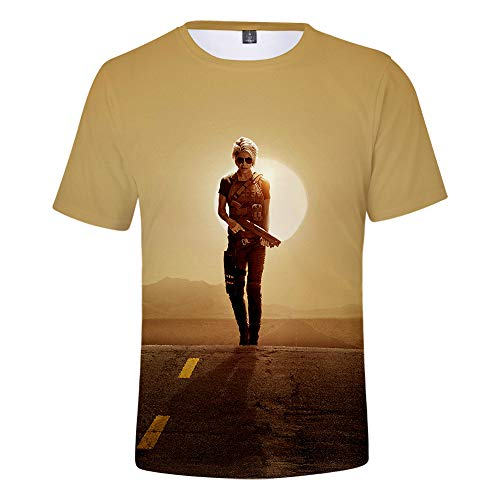 Terminator Mädchen Kostüm - Ywfzzxs T-Shirt 3D Tops Mode-T-Shirts Unterhemden Kurzarm Unisex Neuheit Kostüm HD Anime Druck Weste Terminator Dark Fate S