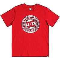 DC Shoes Circle Star - Camiseta para Chicos 8-16 Camiseta, Niños, Racing Red//White, 16/XL