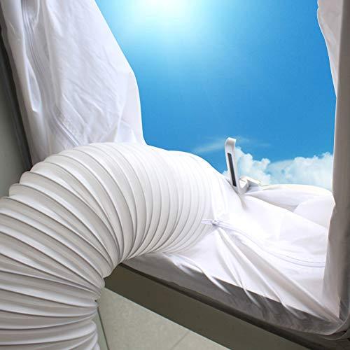 Surenhap Fensterabdichtung Für Mobile Klimageräte und Abluft-Wäschetrockner, Abluft Fenster Abdichtungen 400 cm Hot Air Stop für Fenster, Dachfenster, Kippfenster
