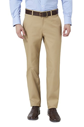 Peter England Khaki Slim Fit Trousers & Chinos_ptf51503852_28