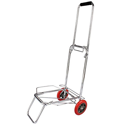 VENJA (LABEL) 2 Wheels Stainless Steel Foldable Luggage Cart Trolley