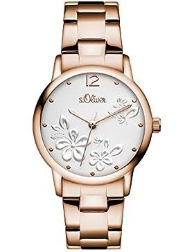 s.Oliver Damen-Armbanduhr Analog Quarz Edelstahl SO-3138-MQ