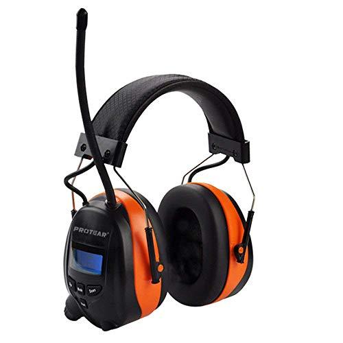 DAB / DAB + FM Radio & Bluetooth Wiederaufladbare Lärmschutz Gehörschutz, Protear Gehörschutz mit integriertem Mikrofon für Arbeits-und Industrie, zertifiziert SNR 30 dB