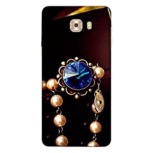 CrazyInk Premium 3D Back Cover for Samsung C5 Pro - Luxury Pearls