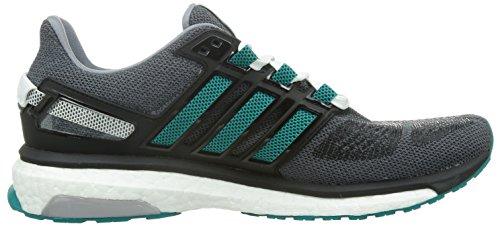 adidas Energy Boost 3 M, Scarpe da Corsa Uomo Multicolore (Gris / Verde / Negro (Gris / Eqtver / Negbas))