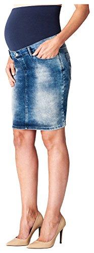 ESPRIT Maternity Damen Umstands Rock Skirt denim OTB mid, Gr. 34, Blau (Stonewash 930)