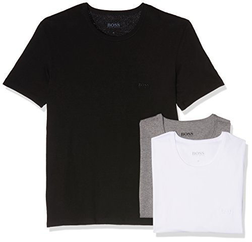 t-shirts-pour-hommes-3pcs-regular-fit-col-de-hugo-boss-noir-blanc-gris-x-large