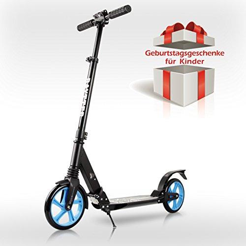 Preisvergleich Produktbild BAYTTER® faltbarer Cityroller für Kinder ab 8 Jahre, Roller Erwachsene mit Dämpfungssystem, in der Höhe verstellbar, max. Belastung bis 100kg, Aluminium big wheel Scooter mit Sicherungsklemme