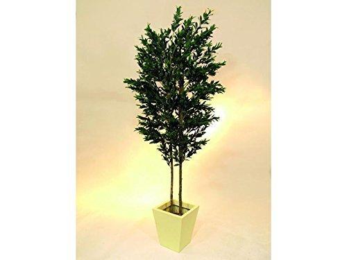 EUROPALMS Olivenbaum 2-stämmig 250cm mit Früchten, Kunstpflanze