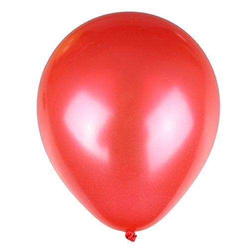 Jerollin 100pcs palloncini rosso per festa, compleanno, matrimonio 2.2g rosso