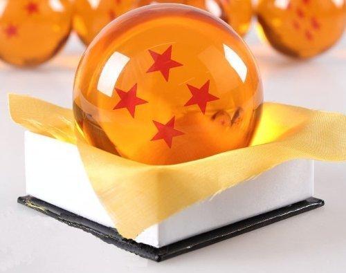Preisvergleich Produktbild 1:1 DBZ DragonBall Z Crystal Ball Durchmesser ca.7cm Dazzling 4-Star-Kristallkugel by COHO