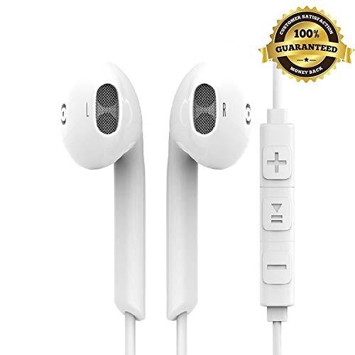 Auricolari con Microfono,Gagawin Cuffie Auricolari in-Ear Bassi Potenti Alta Definizione con Controller,Suono stereo 3.5 mm Cuffie per Samsung/HTC/Huawei Lettori mp3 etc