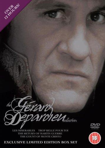 Gérard Depardieu Collection: Les misérables / Trop belle pour toi / Le retour de Martin Guerre / Le comte de Monte Cristo [4 DVDs] [UK Import]