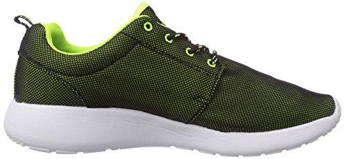 LA Gear Sunrise, Baskets mode homme Noir (Black/Neon Green)