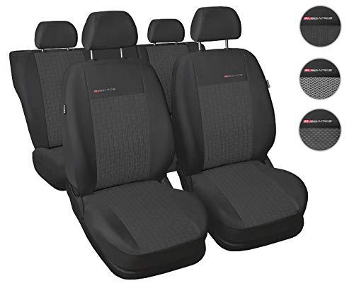 Coprisedili Auto Anteriori e Posteriori Copri-sedile con Airbag Sistema Elegance P1 - Grigio