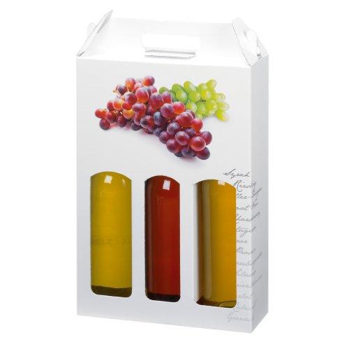 Susy Card 11277308-Confezione regalo per 3 bottiglie, motivo: musicale