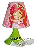 Unbekannt Nachttischlampe Emily Erdbeer / Erdbeere - incl. Name - 29 cm hoch -...