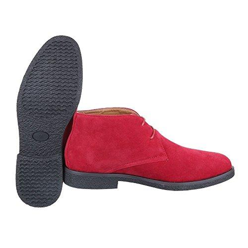 Ital-Design , Desert boots homme Rouge