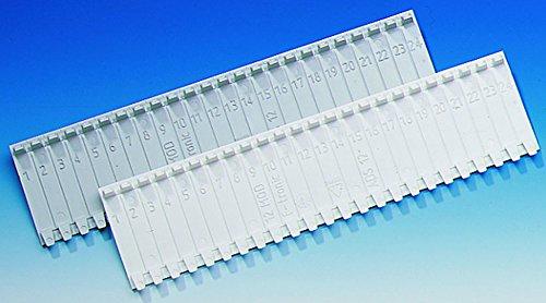 10 Stück Abdeckstreifen für Verteiler für 12 Modulplätze weiß für Verteiler von F-Tronic, Hager, Geier, usw (Verteiler Abdeckung)