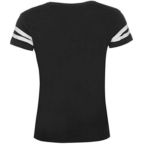 Jdy Mallie T-Shirt Tee Top Haut Decontracte Col Rond Manches Courtes Femme Noir