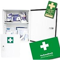 Verbandsschrank - Erste Hilfe Schrank - Kasten DIN 13157 mit Schloss inkl. Füllung, Verbandbuch und 10 Prüfsiegel preisvergleich bei billige-tabletten.eu
