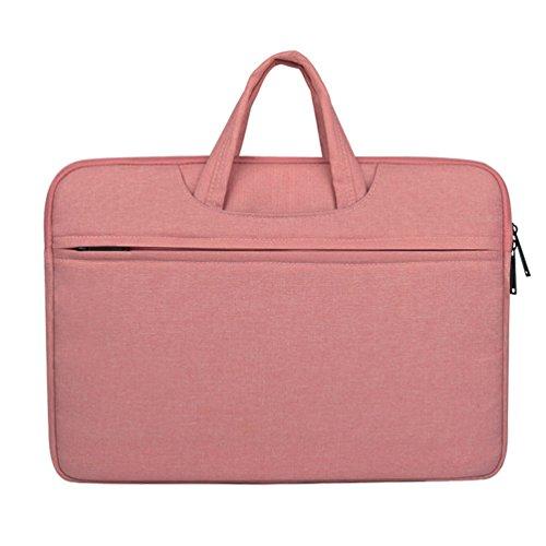 Yuncai Notebooktasche 11.6-15.6 Zoll Apple Macbook Schutztasche Wasserdicht Stoßfest Laptop Handtasche Pink 15.6Inch