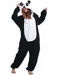 Pijama de Una Pieza Adulto Unisexo Trajes Animales Mono Cosplay Kigurumi Onesie con Capucha Jumpsuit Romper Ropa de Dormir para Mujer Hombre Disfraz de Halloween Carnaval Navidad Festival – Landove