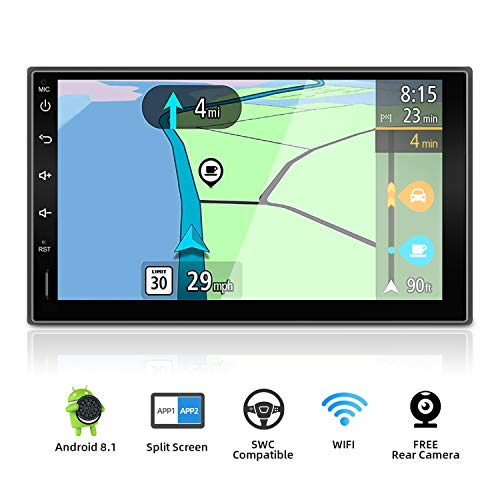 YUNTX Android 9.0 Doppel Din Autoradio mit navi - GPS 2 Din - Rückfahrkamera einbeziehen - 7 Zoll - Soutien DAB+ | Commande au Volant | 4G | WiFi | Bluetooth | Mirrorlink | USB | SD | Carplay
