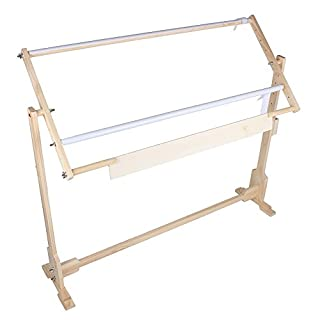 Cross Stitch Frame Stand - Adjustable Wooden Frame Embroidery Stand Cross Stitch Frame Floor Stand Needlework Stand Lap Frame Craft Tool Wooden Embroidery Tapestry Hoops (100cm,32CT)