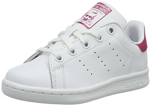 hot sale online fc427 dff7f Adidas Stan Smith C, Zapatillas para Niñas, Blanco Footwear WhiteBold Pink  0