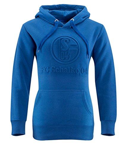 FC Schalke 04 Damen Kapuzenpullover Prägung Gr. L