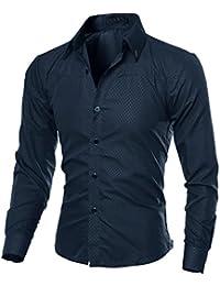 Camisa De Manga Larga A Cuadros De Hombre AIMEE7 Camisas Hombre Traje Camisas  Hombre Manga Larga 24a2ec59a01