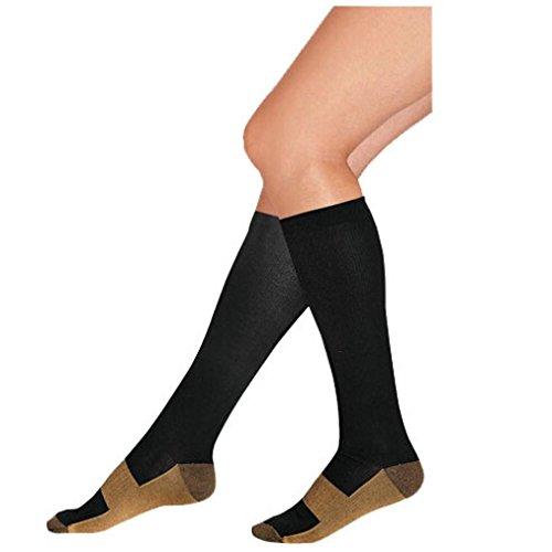 VENMO Mode Komfortable Entlastung Soft Unisex Anti-Müdigkeit Compression Socken Krampfader Kniehohe Strümpfe Kniestrümpfe Kompressionsstrümpfe Strapsgürtel Strapsstrümpfe Netz Strümpfe (L/XL)