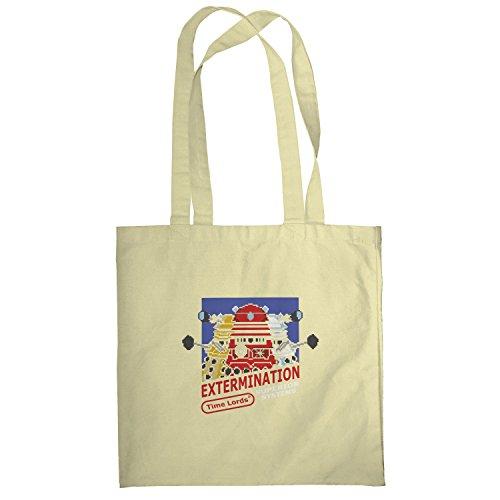 Texlab–extermination 8Bit System–sacchetto di stoffa Naturale